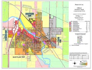 Plainwell Michigan Map.City Of Plainwell Michigan Planning Zoning